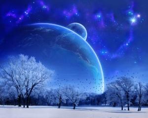 Ceu azul, universo e neve. É lindo!!!