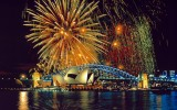 Fireworks over the Sydney Opera House and Harbor Bridge