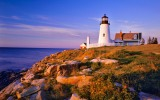 Pemaquid Lighthouse and Cliffs; Maine, USA
