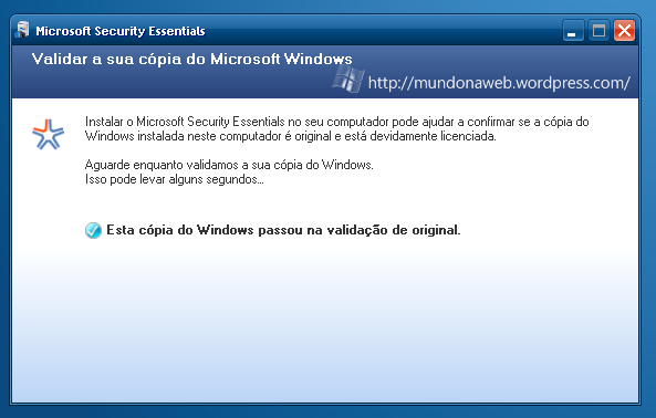 Validando o Windows.