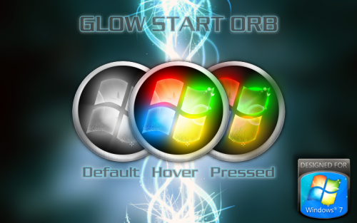 Glow Start Orb for Windows 7